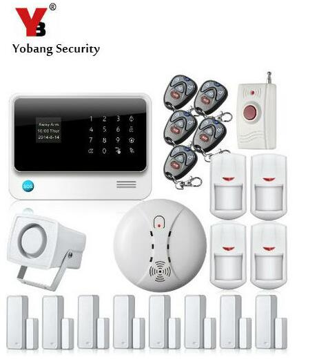 YobangSecurity Touch Screen WIFI GSM Alarm System G90B Android IOS APP Control Home Security Alarm System Smoke Fire Sensor bonlor wireless wifi gsm alarm system android ios app control home security alarm system with pir motion sensor ip camera smoke