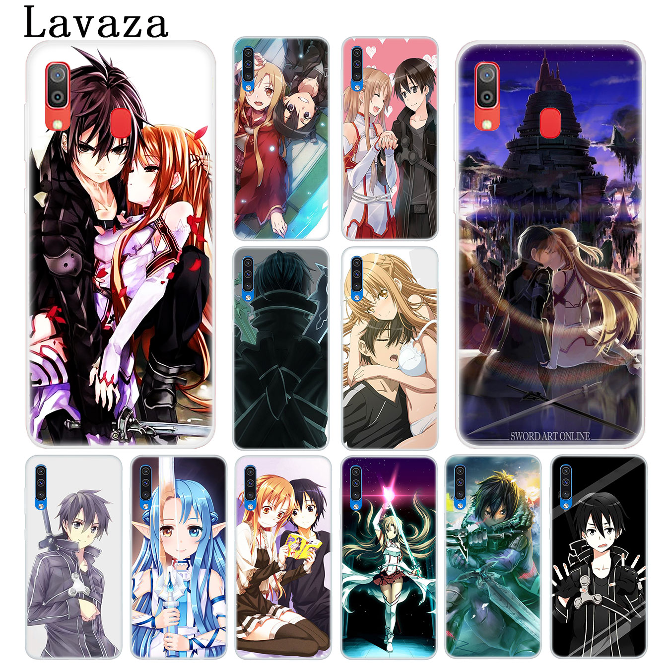 Special Section Lavaza Sword Art Online Hard Transparent Phone Case For Samsung Galaxy M30 M20 M10 A10 A30 A40 A50 A70 Cover Skilful Manufacture Phone Bags & Cases