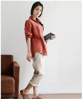 Blouse 2018 Blusas Renda Cotton Linen Was Plus Size Loose Long Sleeved Shirt Female Clothes For Women White Blouse