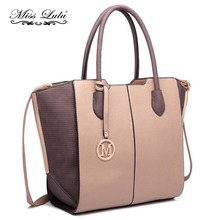Miss Lulu Fashion PU Leather Handbags Women Designer Luxury Shoulder Bags  Female Ladies Winged Large Tote 31d5413c1f1e4