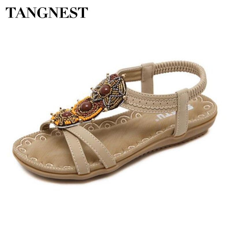 Tangnest NEW 2018 Summer Gladiator Sandals For Women Peep Toe Back Strap Platform Sandals Beach Shoes  Big Size 35~42 yaerni women gladiator sandals wedges heel platform peep toe summer style shoes for woman