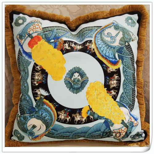 wholesale cclassic royal <font><b>decorative</b></font> cushion covers for sofa car office bedding cushion cover <font><b>50x50cm</b></font> <font><b>Pillow</b></font> core image