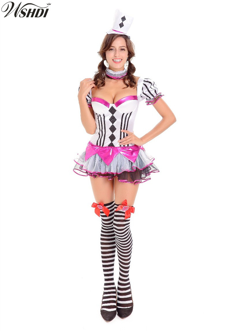 halloween girl clown circus costumes masquerade cosplay adult costumes circus female performance clotheschina - Girl Clown Halloween Costumes