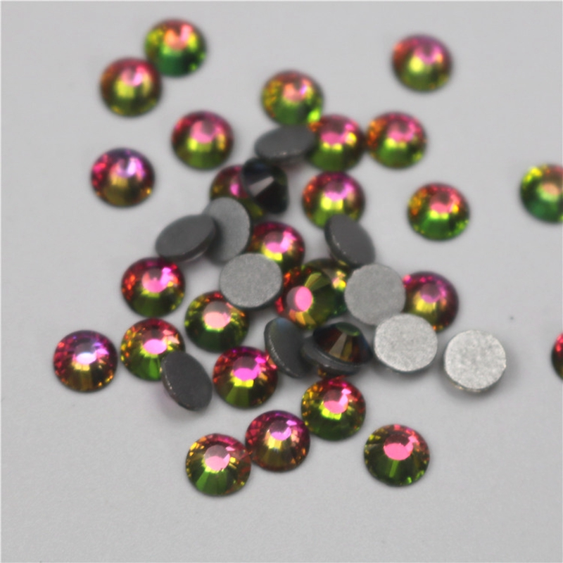 All Sizes Light Siam AB Flame DIY Nails Decoration Non Hotfix Rhinestone Flatback Strass Non hot fix Stone For Garment DIY in Rhinestones from Home Garden