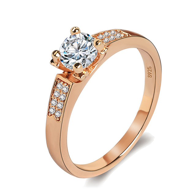 Classic Rose Gold Color High Carbon Imitation Rhinestone Zircon