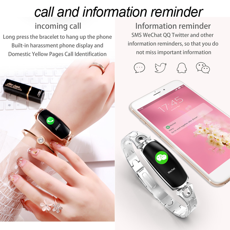 Image 4 - Smart Bracelet AK16 Heart Rate Men Women Watch Blood Pressure Fitness Tracker Waterproof Color Call Message Activity Sports Band-in Smart Wristbands from Consumer Electronics