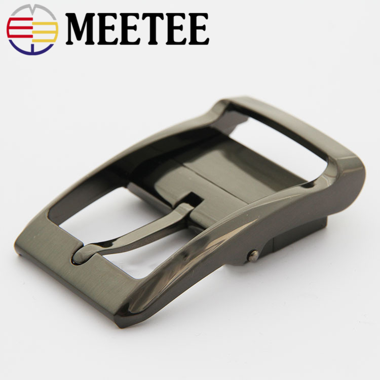 Meetee 35mm Rotary Tail Clip Pin Buckle Belt Buckle Metal Fashion Mens Jeans Accessories DIY Leather Craft Hardware