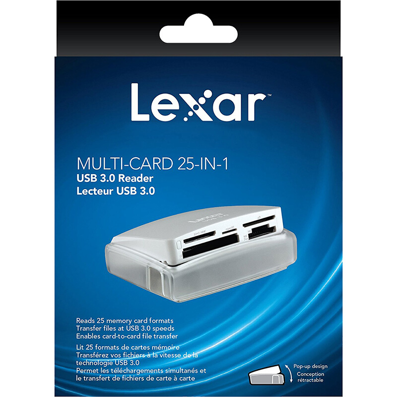 Image 5 - Lexar Multi Card 25 in 1 memory Smart Card Reader USB 3.0 500MB/S compact TF SD CF card reader for laptop accessories camera-in Card Readers from Computer & Office