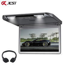 XST 13.3 Inch Car Ceiling Flip Down Roof Mount Monitor with Full 1920x1080 Screen MP5 Player With HDMI USB SD IR FM Transmitter