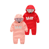 Baby Clothes 2016 Fashion 100 Cotton Long Sleeve Baby Rompers Spring Fall Letters Cartoons Baby Girl