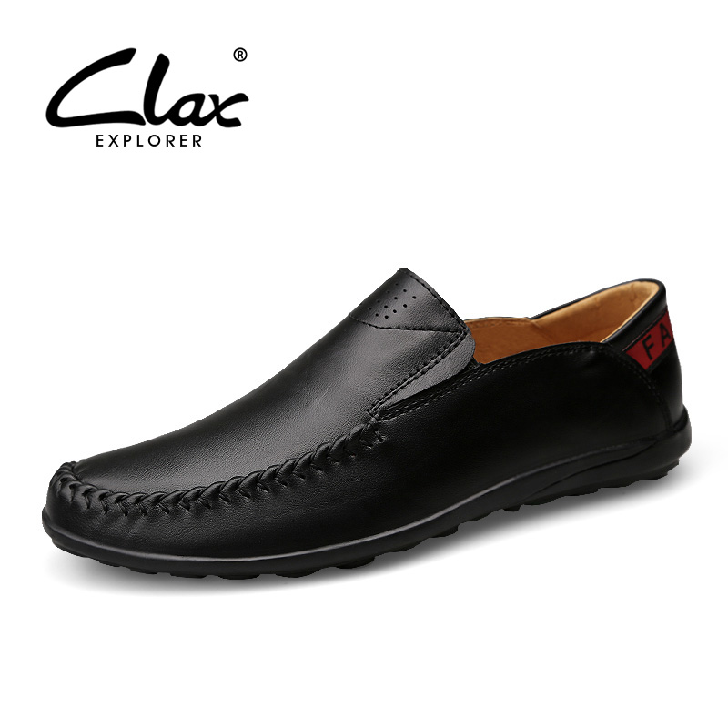Clax Men Loafers Genuine Leather 2018 Spring Summer Men's Designer Flat Shoes Casual Driving Shoe Moccasin Luxury Brand clax men boat shoes genuine leather 2018 spring summer casual loafers man breathable flat moccasin retro leather shoe slip ons