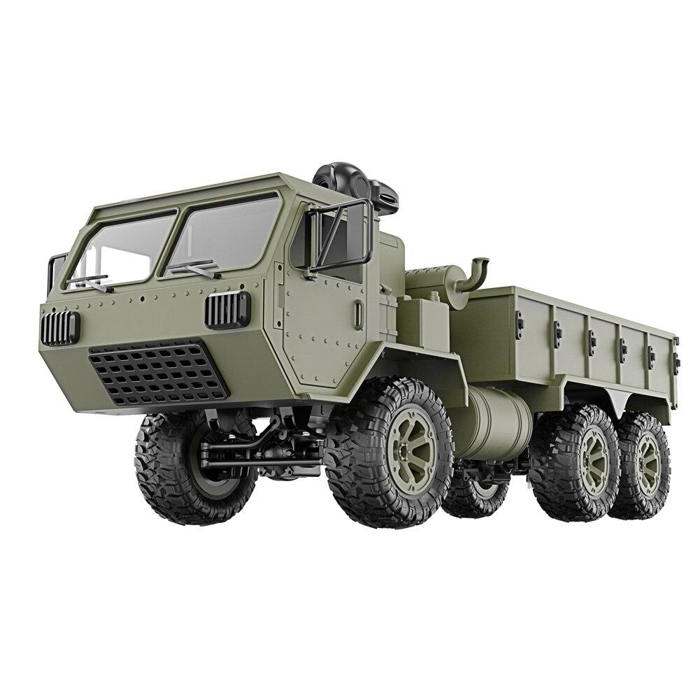 1/16 2.4G 6WD RC voiture contrôle proportionnel armée militaire camion modèle jouets enfants cadeau @ ZJF
