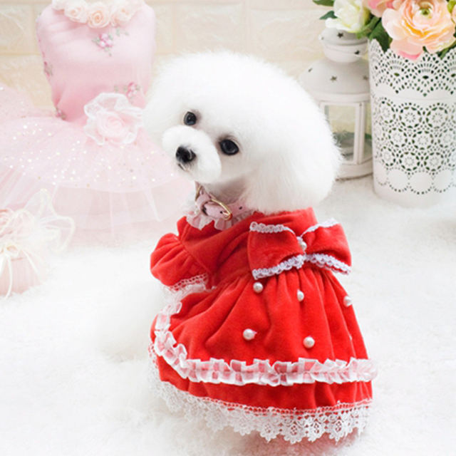 Summer Pet Clothes Puppy Jumpsuit Dog Dress Wedding Lice Apparel Dogs Pets Princess Outfits Ropa Perro Pet Dress Girls 50B0065