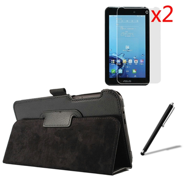 4in1 Luxury Magnetic Folio Stand Leather Case Cover +2x Screen Protector +1x Stylus Pen For Asus FonePad 7 FE170CG FE170 K012 7""