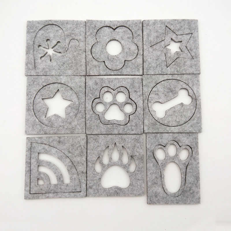 5Pcs Wool Felt Template Accessories Poke Poke Le Mold Tool Diy Craft Embroidery Sewing Stencil Applique Wedding Needle Felting