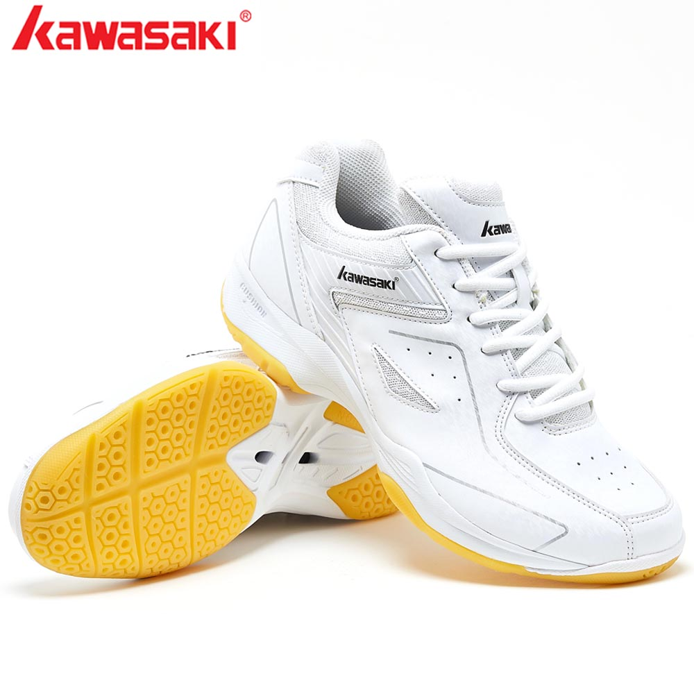 2019 KAWASAKI Professional White Badminton Shoes Training Breathable Anti Slippery Light Sneakers Tennis shoesK 077