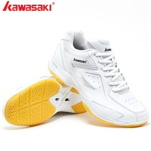 2019 KAWASAKI Professional White  Badminton Shoes Training Breathable Anti-Slippery Light Sneakers Tennis shoesK-077
