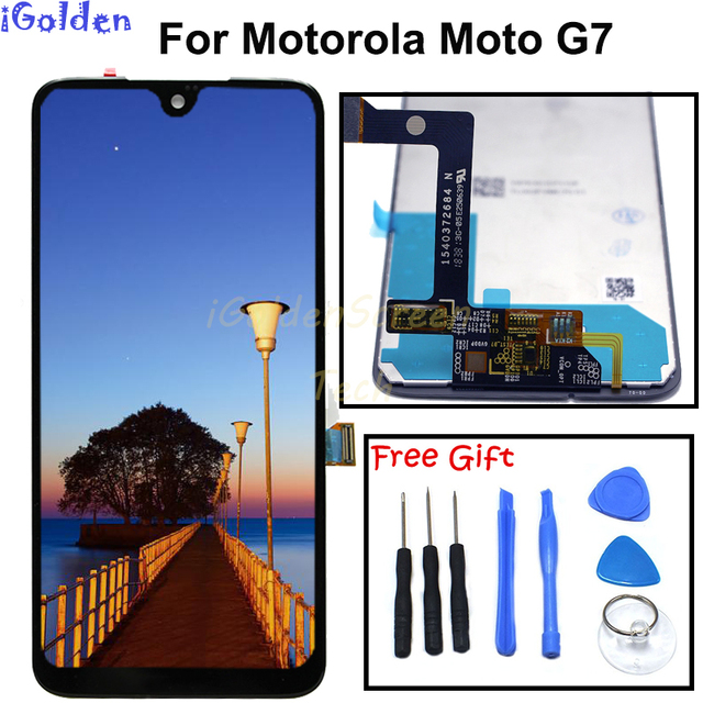 100% test For Moto g7 LCD Screen Display Touch Digitizer Screen glass Replacement For Motorola g7 Display g 7 G6 plus LCD