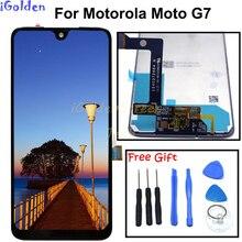 100% test Moto g7 LCD Ekran dokunmatik sayısallaştırıcı ekran cam Değiştirme Motorola g7 Ekran g 7 G6 artı LCD