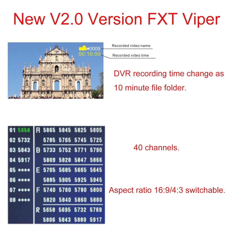 FXT VIPER Versione 2.0 5.8G Diversità HD FPV Video Occhiali con DVR Built In Rifrattore per RC Drone Quadcopter FPV accessoriess - 2