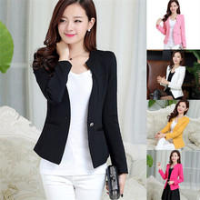 Fashion One Button Suit Slim font b Blazer b font Coat Casual Jacket Sleeve Outerwear font