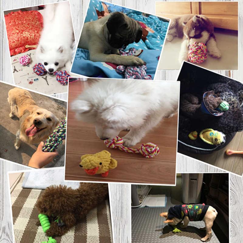 Legendog 10 stücke Set Baumwolle Hund Seil Spielzeug Knoten Welpen Kauen Zahnen Spielzeug Zähne Reinigung Pet Palying Ball Für Kleine medium Large Hunde