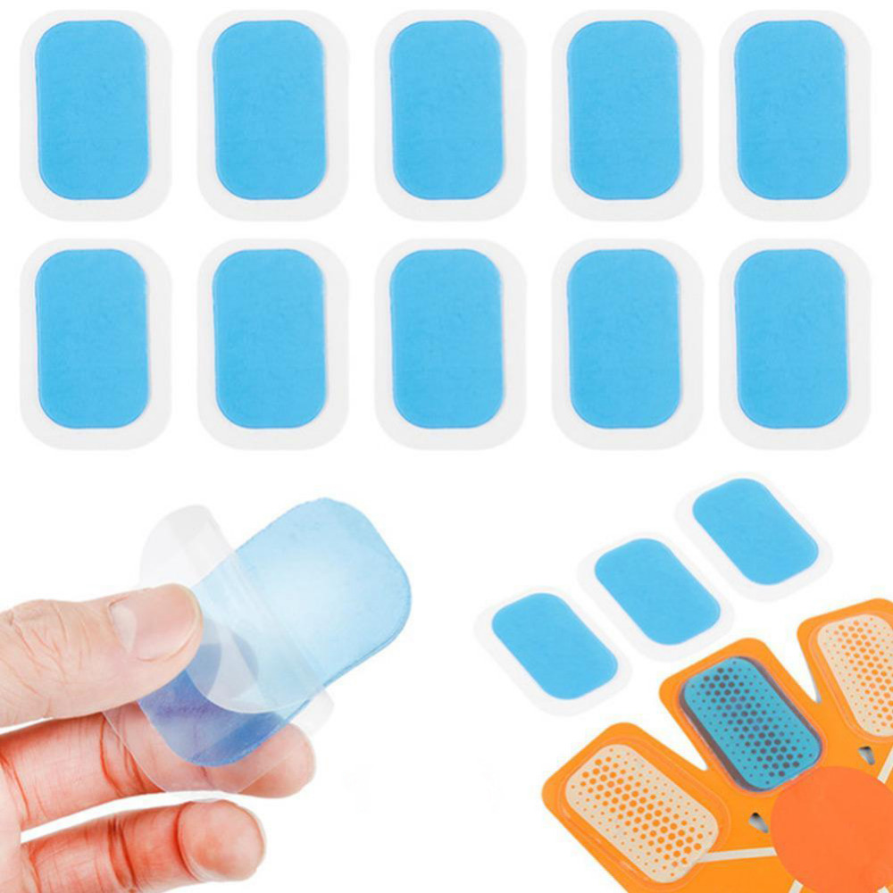 10PCs Abdominal Training Device High Adhesion Hydrogel Replacement Mat Pad Gel Stickers Exercise Body Massager Exercise Patch