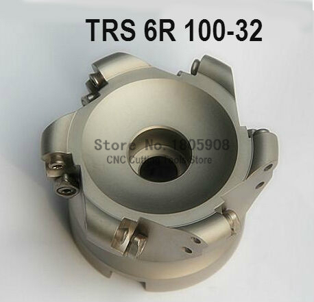 Free Shopping TRS 6R 100 32 6T Face End Milling Cutter Indexable Flat Roughing Cutting  CNC Milling Cutter cnc router cutter cutter chopper cnc profile cutter - title=