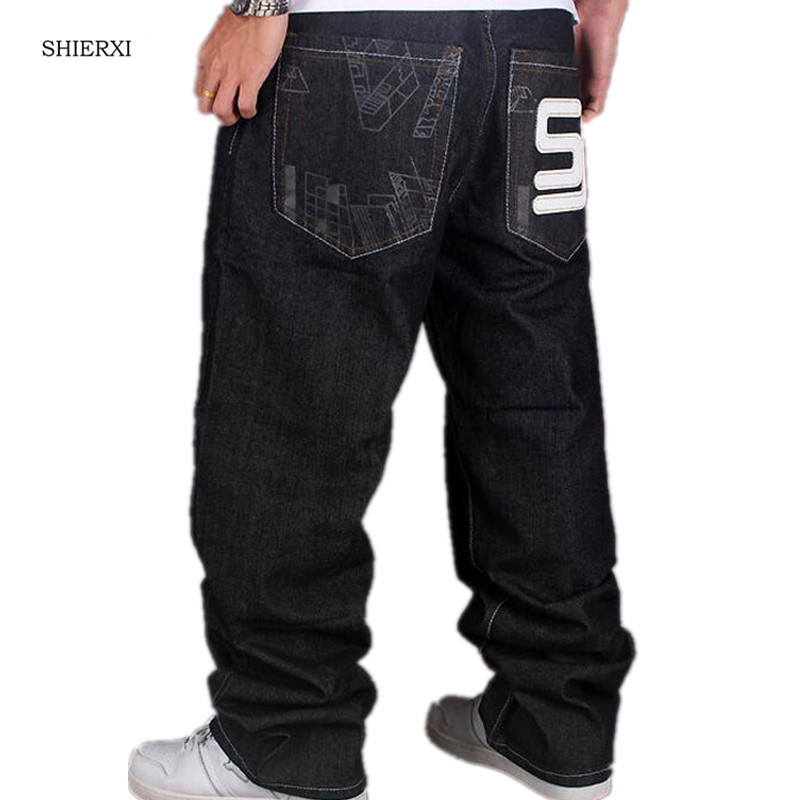 European Added Wide Added big size Long Pants Fashion Men's Hip-hop Jeans Loose Casual Pants Size:30-44 hot new large size jeans fashion loose jeans hip hop casual jeans wide leg jeans