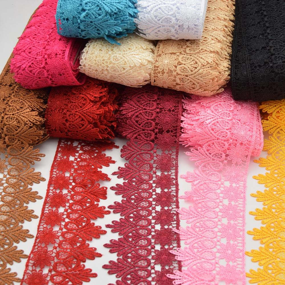 43 yards Venise Lace trim wedding DIY crafted naaien wit en roze 8 cm TWEE kleuren-in Kant van Huis & Tuin op  Groep 1