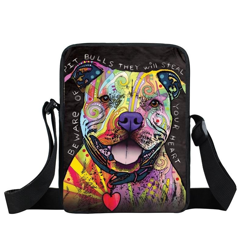 Bulldog Rottweiler Dog Prints Mini Shoulder Bag Women Messenger Bag Casual Handbag Kids Cartoon Colorful Pet