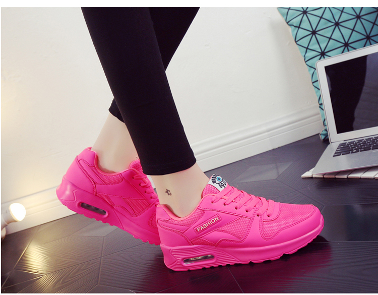 18 Fashion Sneakers Women Shoes Spring Tenis Feminino Casual Shoes Outdoor Walking Shoes Women Flats Pink Flas Ladies Shoes 40