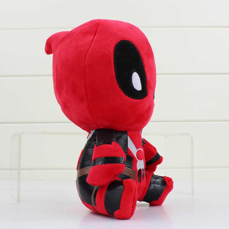 A Versão Q Deadpool Brinquedos de Pelúcia Brinquedo Macio Stuffed Dolls 20 cm Frete Grátis