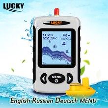LUCKY FFW718 localizador de peces inalámbrico ruso 125KHz contorno inferior de frecuencia 5 45M Fishfinder Sensor CÁMARA DE PESCA