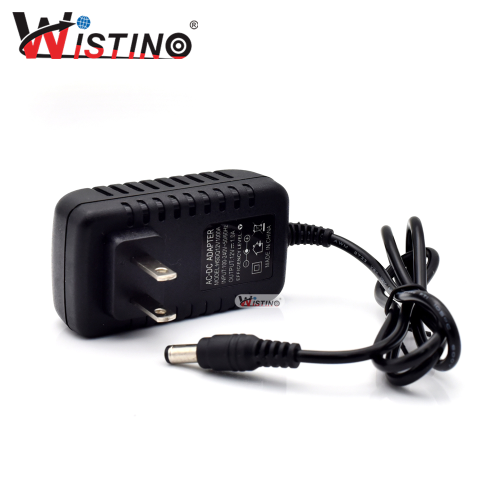 Wistino DC 12V 1A US Plug Power Supply Adapter Converter Voltage Switching Transformer Charger Switch Adaptor power supply adapter 12v1a dc 12v eu us uk au plug converter voltage switching transfomer charger switch adaptor high quality
