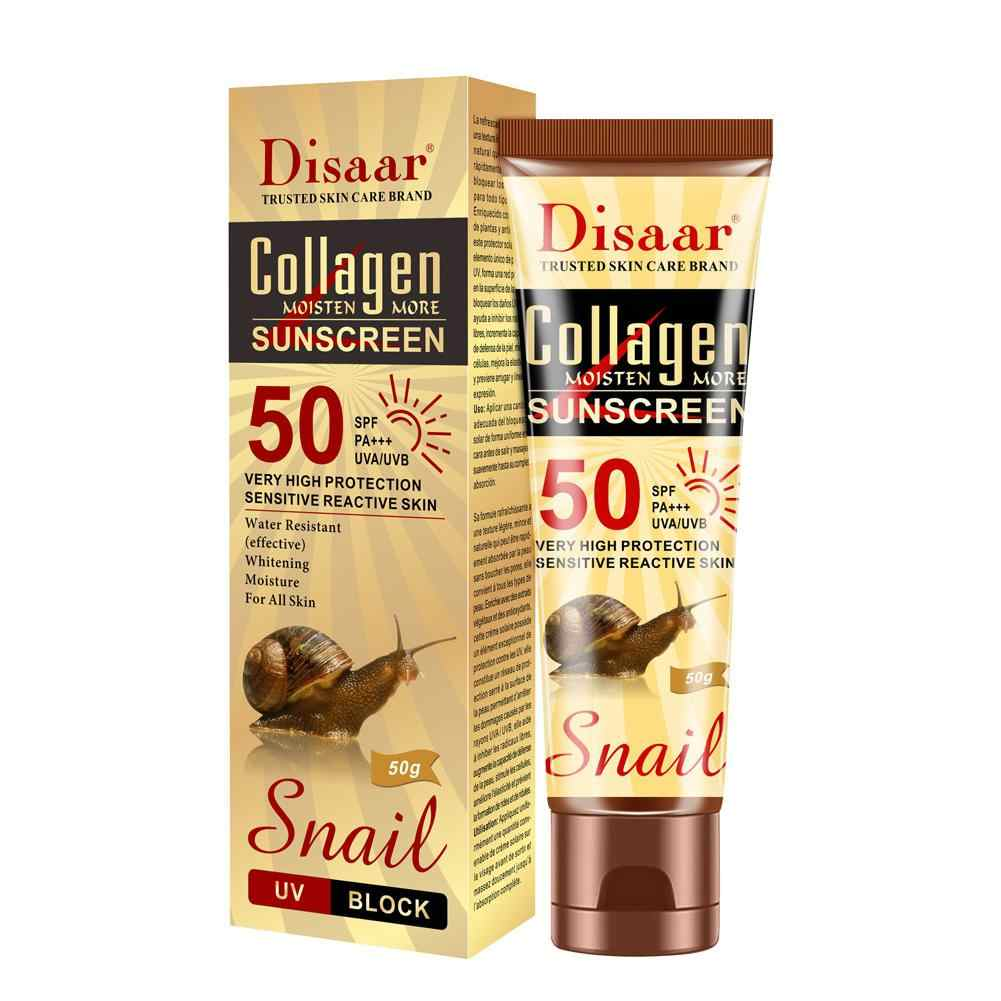 VIBRANT GLAMOUR Collagen Snail ครีมกันแดด SPF50 ++ Body Whitening Skin Care Sun ครีม Oil-Control Moisturizing Sun Screen