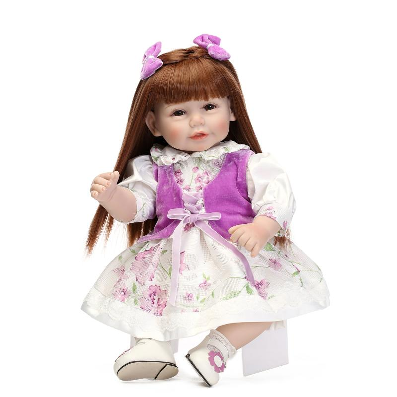 50cm Princess baby dolls toys for girls lifelike birthday present gift for child early education play house bedtime toy dolls  2016 new 1pcs lot bedroom furnitures for barbie dolls monster hight dolls for baby girls play house toys girls baby t03022
