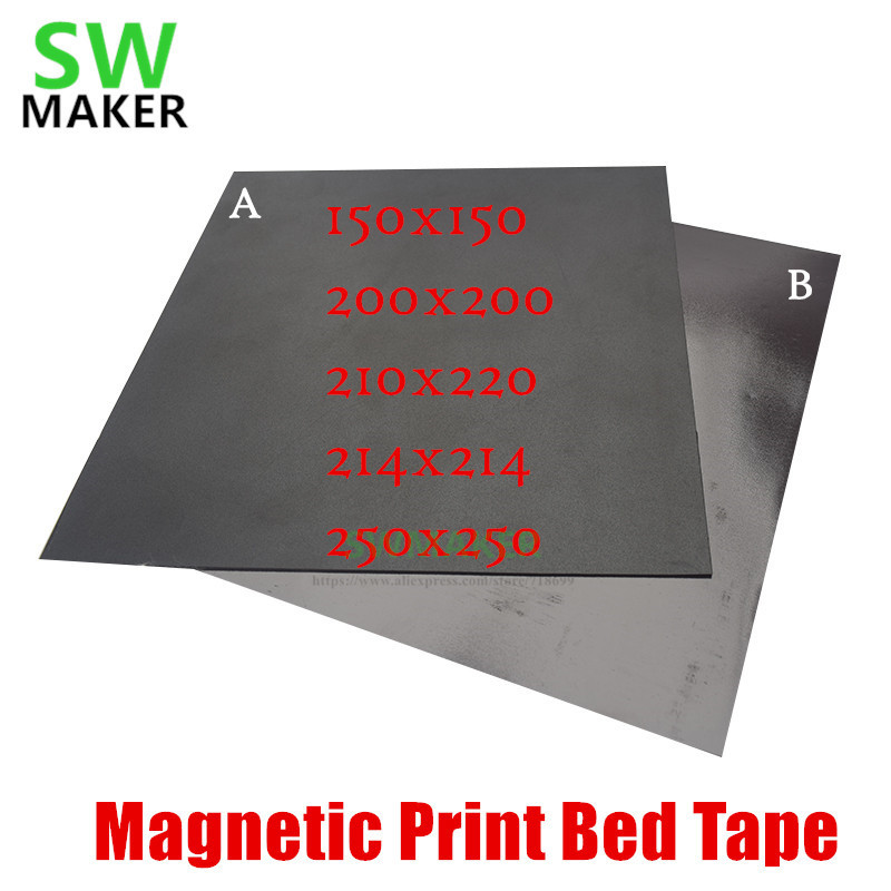 Magnetic Print Bed Tape Heat Paper For 3D Printer Print Sticker Square Build D1