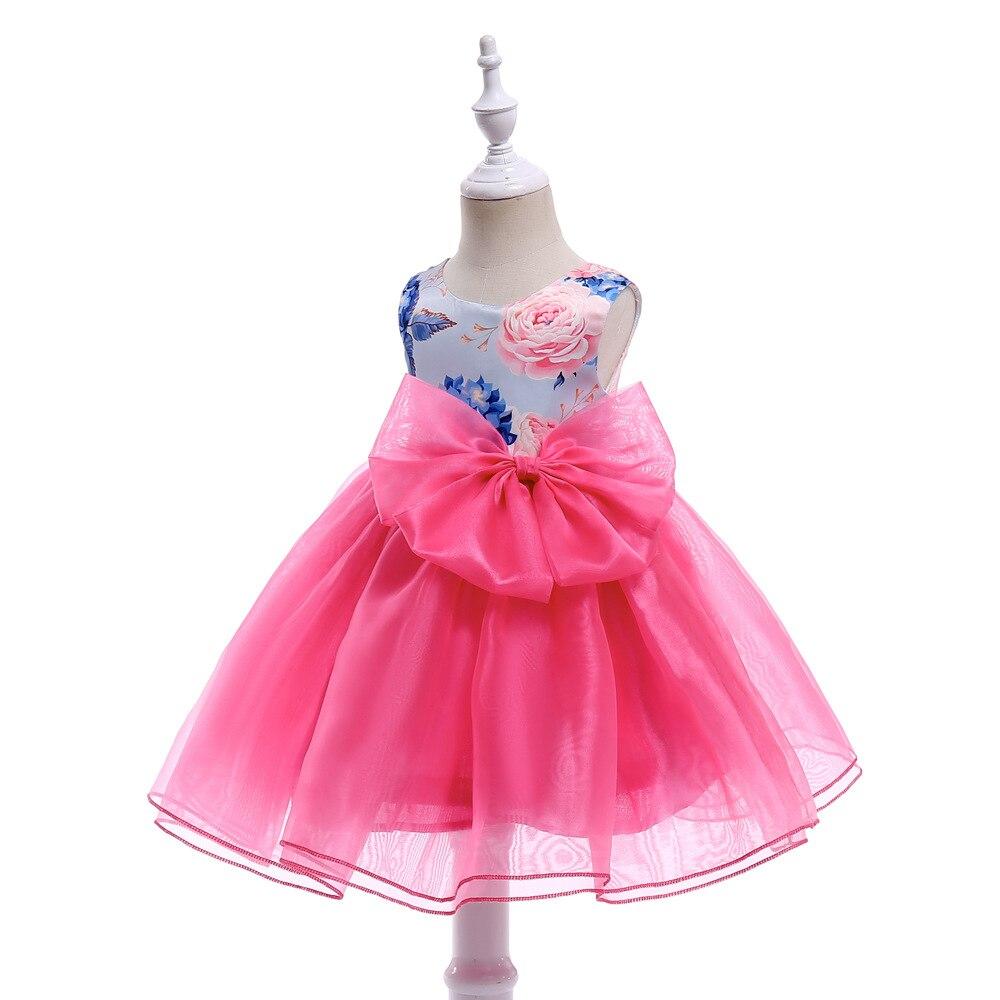 HIBYHOBY 2018 Nowa dziewczyna suknia bez rękawów Suknie wieczorowe - Ubrania dziecięce - Zdjęcie 3