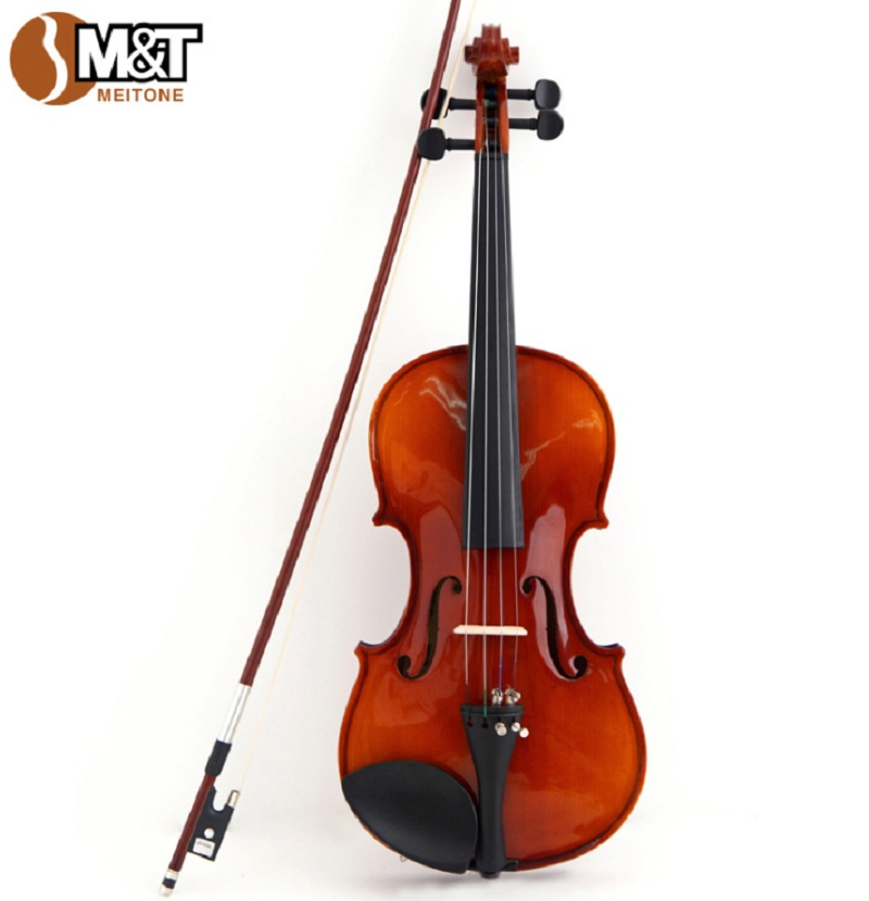 Violin 4/4 Wood String Instrument Beginner Handmade and 4 Strings Violins Professional Children Natural Musical Instruments