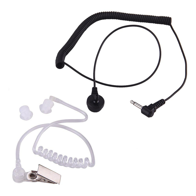 Marsnaska Nova Moda 3.5 milímetros Mic Covert Acústico Tubo Fone de Ouvido Fone de Ouvido fone de Ouvido 1 PIN para Motorola I