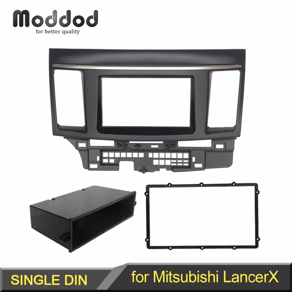 1 Or Double Din Radio Fascia for MITSUBISHI LANCER FORTIS DVD Stereo Panel Dash Mounting Installation Trim Kit Face Frame double din fascia fit radio dvd stereo cd panel dash face frame mounting installation trim kit for honda civic