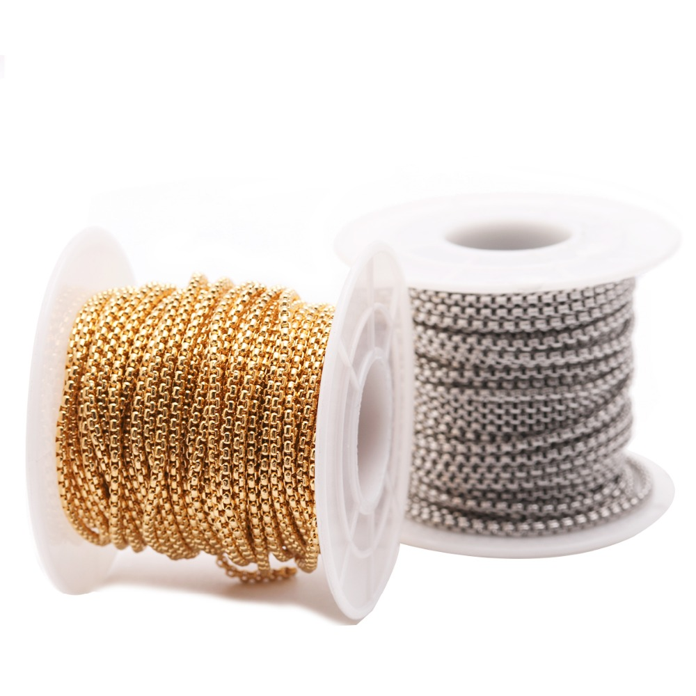 Open Link Iron Cable Findings Metal Antique Chain 0.7x3x2mm Fit Necklace 5M//50M