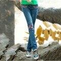 Moda outono Cintura Alta Alta Elástica Jeans Mulheres Primavera Femme Verão Lavado Casual Skinny Lápis Calças Jeans 26-31