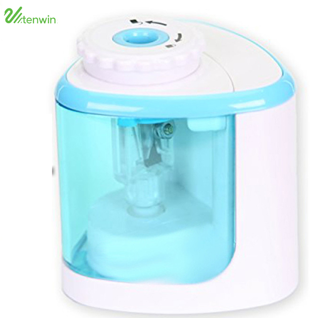 New Electric Pencil Sharpener Kids Stationary School Office Home  Pink Blue Automatic Pencil Sharpener TN8005