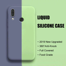 Huawei P Smart 2019 Anti-knock Liquid Silicone Case Phone Cover For PSmart Business Soft Back