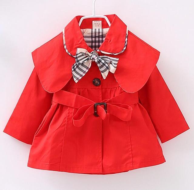 Novo 2017, moda primavera outono bebé casacos, hoodies crianças, crianças outerwear, baby girl roupas, casaco de crianças para 9 M-2 T