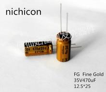 10pcs/20pcs NICHICON capacitance FG series 35v470uf 12.5*25 audio super capacitor electrolytic capacitors free shipping цена