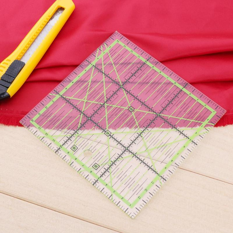 Square Fan Shape Patchwork Ruler Tailor Yardstick Cloth Cutting Rulers Sewing Arts Craft DIY Sewing Tools
