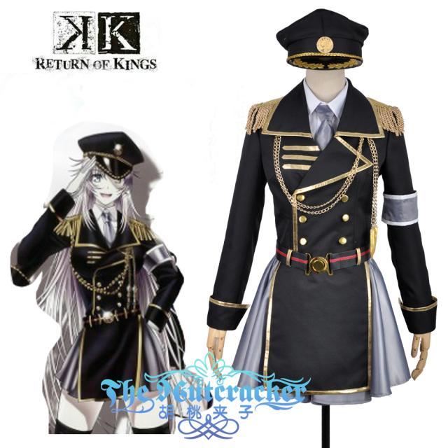 Здесь продается  Anime K Return Of Kings Neko Military Uniform Outfit Cosplay Costume Custom Made 6/lot  Одежда и аксессуары